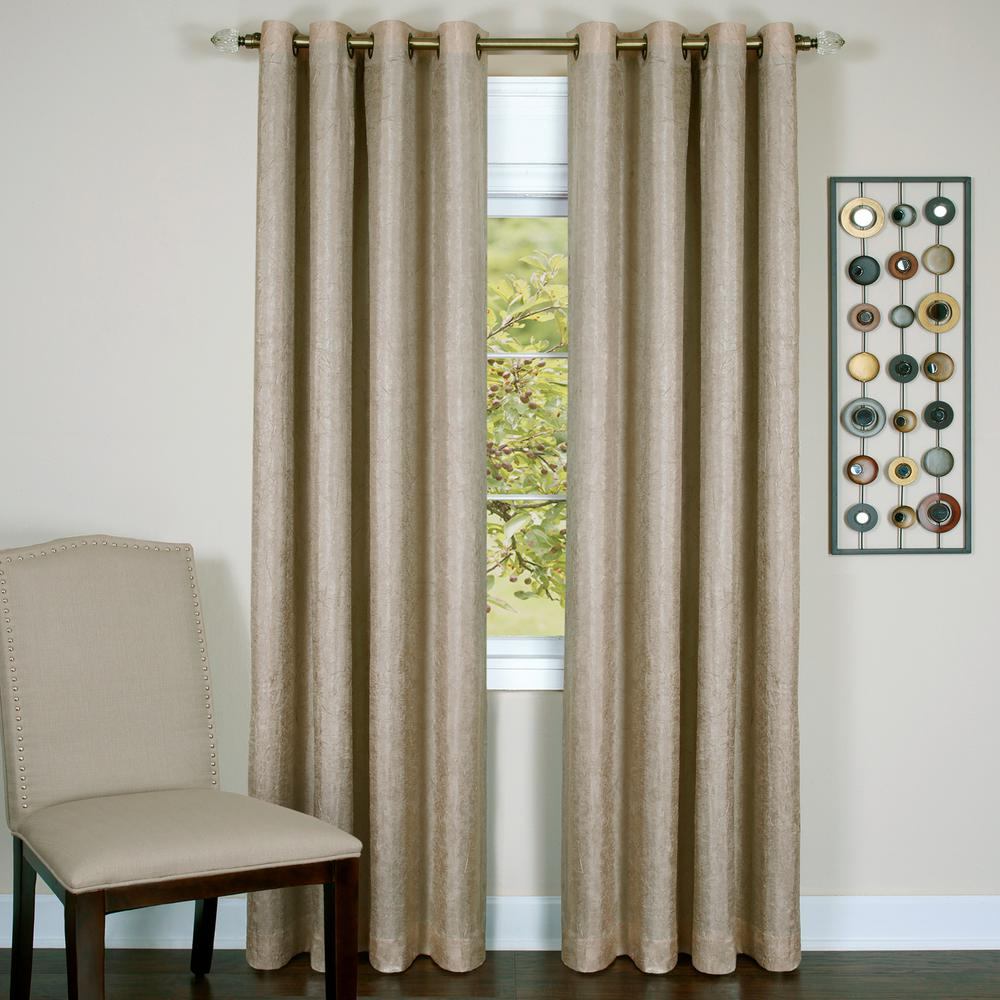 Achim Taylor Tan Polyester Lined Grommet Panel - 50 in. W x 63 in. L