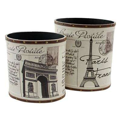 Paris Trash Canisters (Set of 2)