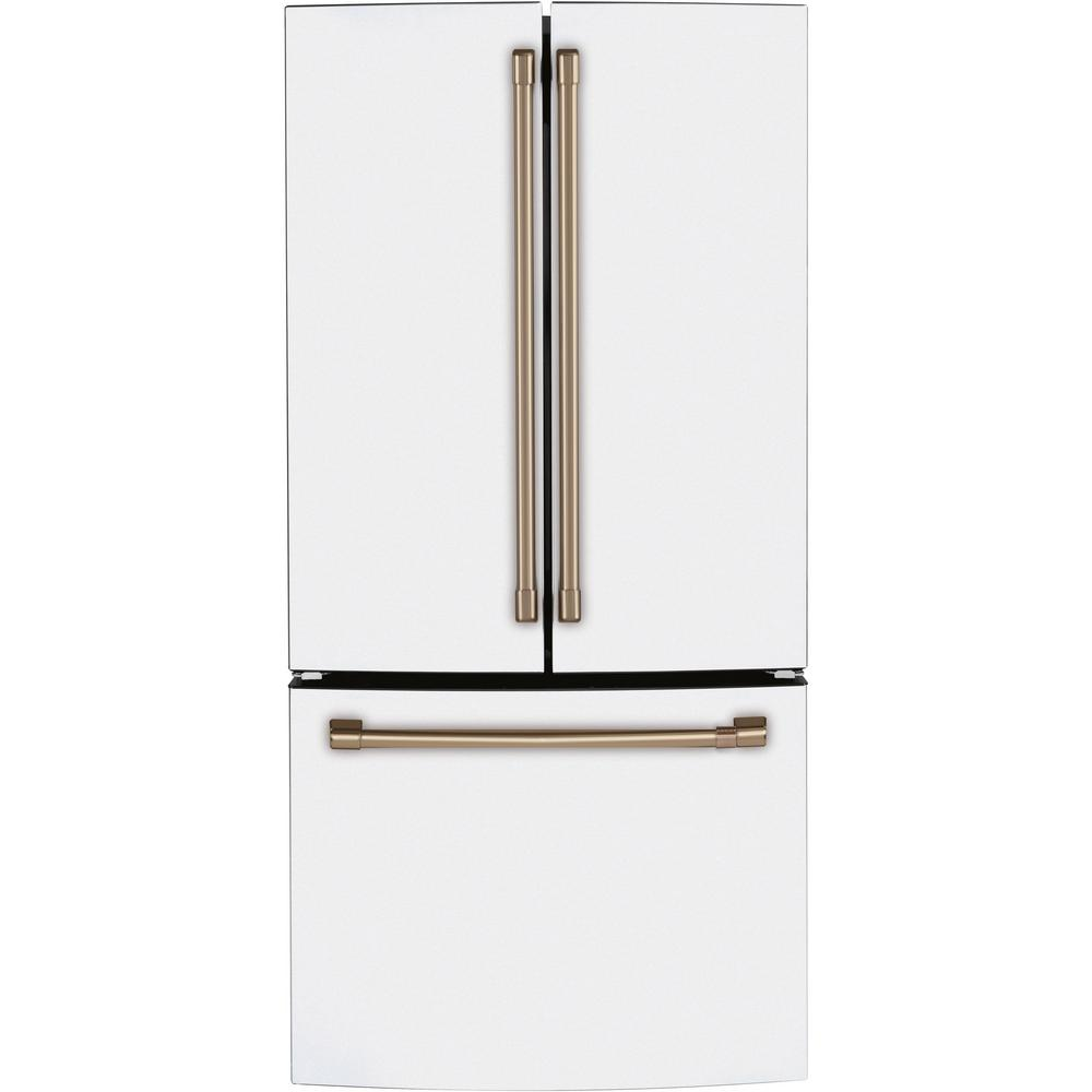 Cafe 18.6 cu. ft. French Door Refrigerator in Matte White, Fingerprint Resistant, Counter Depth and ENERGY STAR