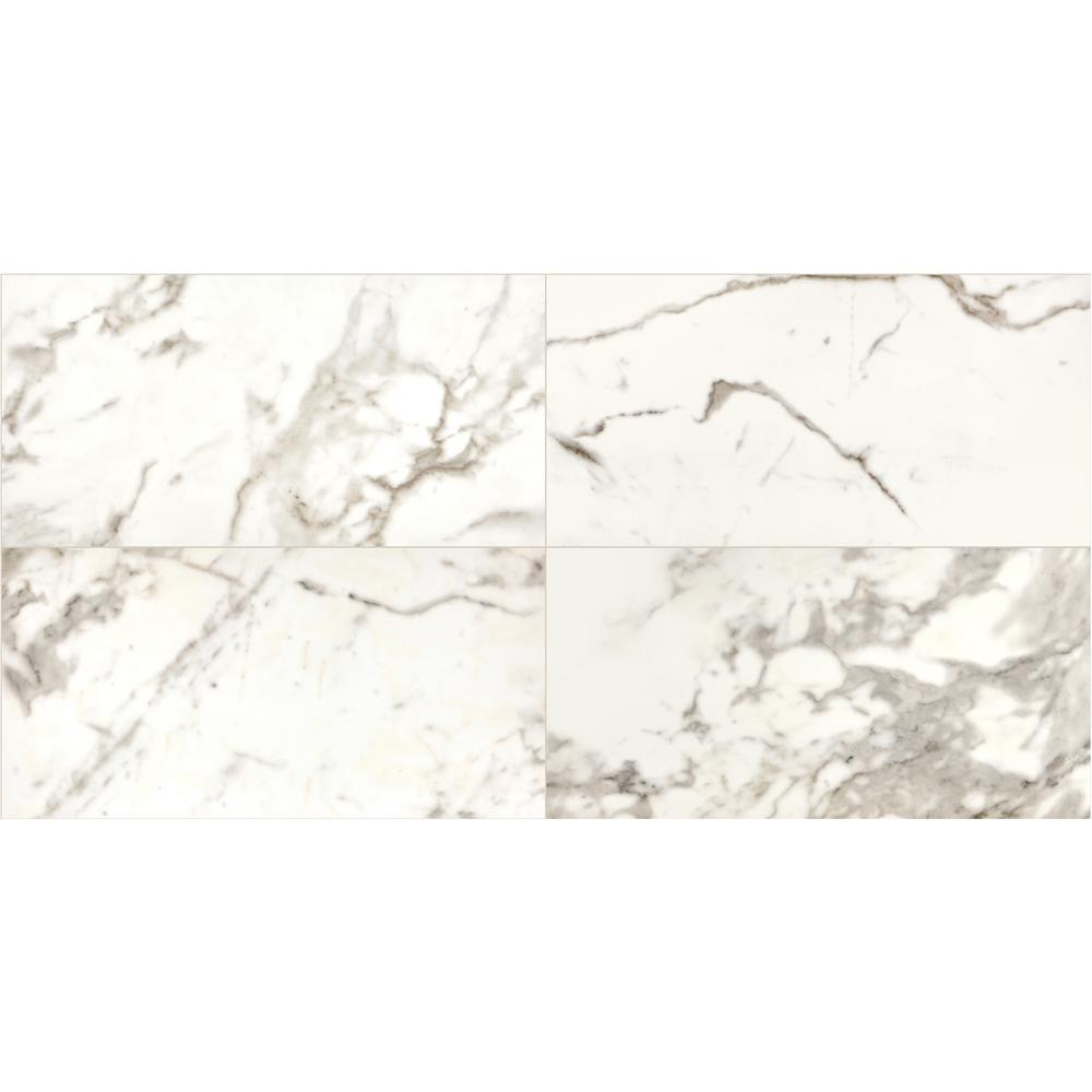 Daltile Marble View Calacatta Polished 12 In X 24 Color Body Porcelain Floor