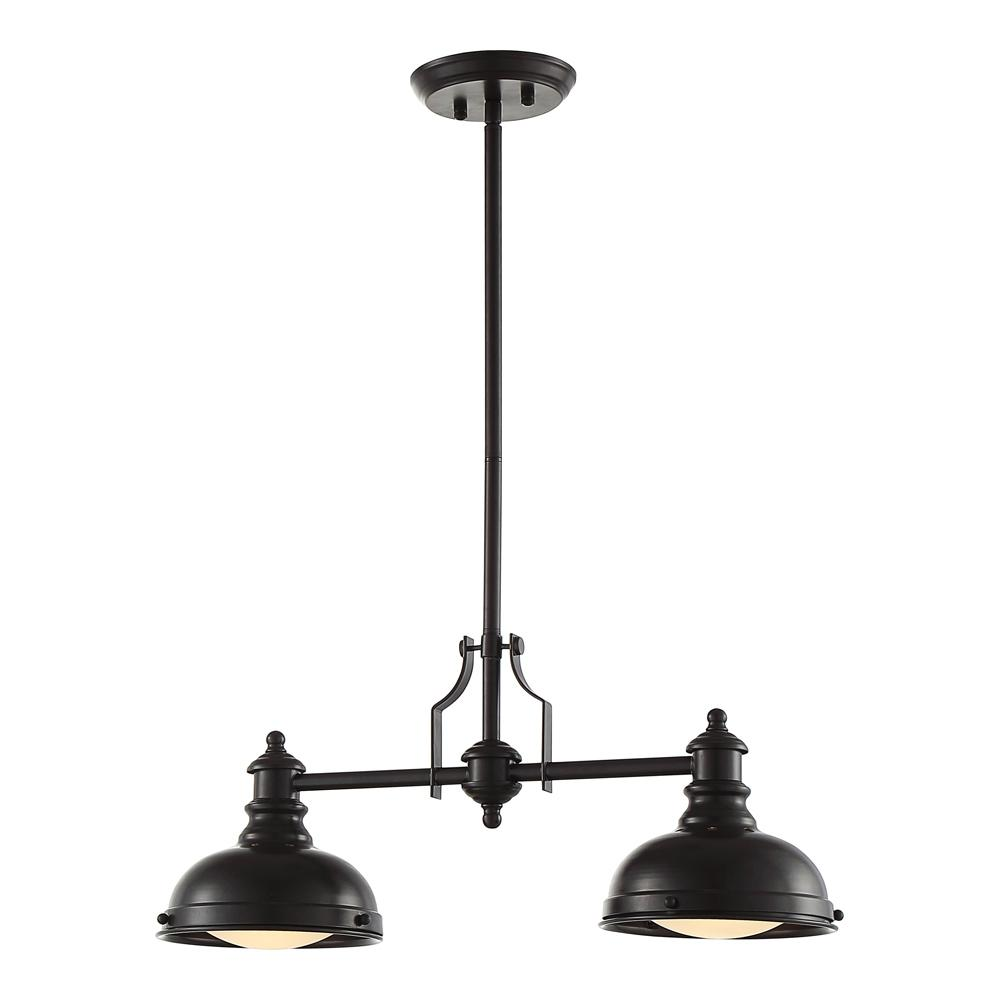 Ove Decors 2 Light Oiled Bronze Pendant Bergin Ii The