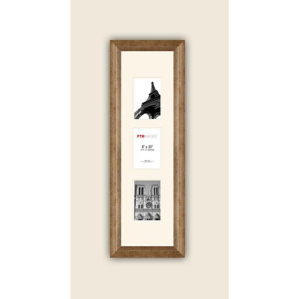 PTM Images 3-Opening Vertical 4 in. x 6 in. White Matted