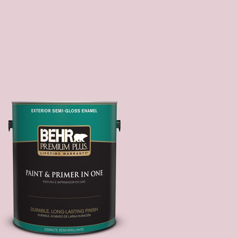 1-gal. #100C-2 Cool Pink Semi-Gloss Enamel Exterior Paint