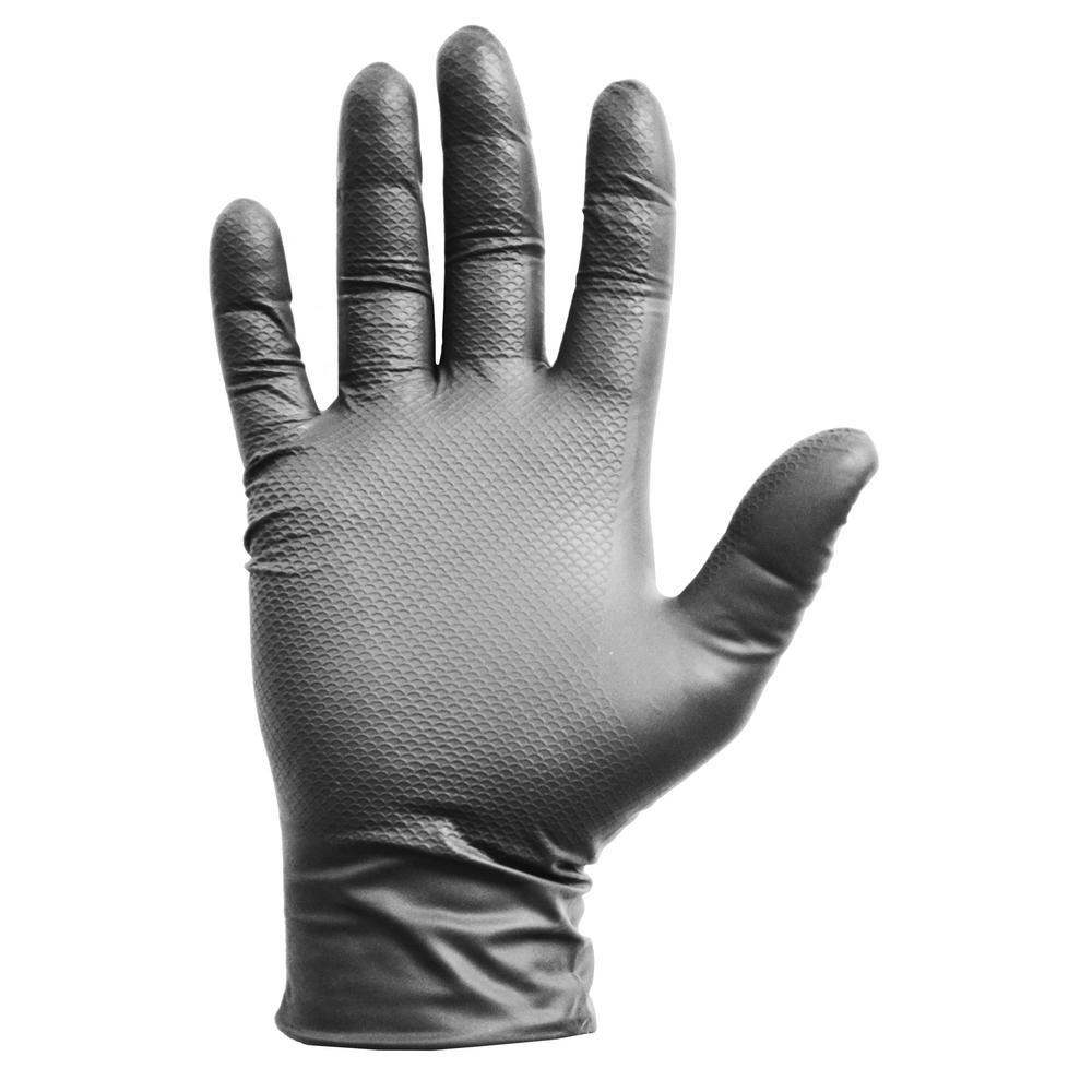 Gorilla Grip Large Gray Nitrile Disposable Gloves (40-Count)