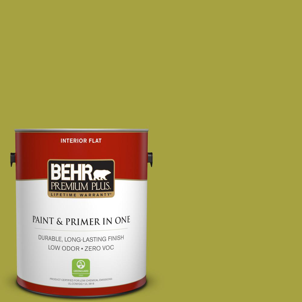 1-gal. #400B-7 Lemon Grass Zero VOC Flat Interior Paint