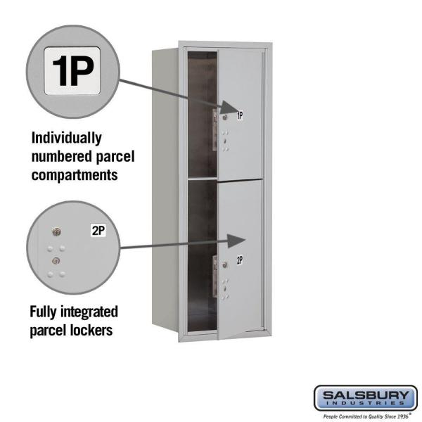 Salsbury Industries 41 In H X 16 3 4 In W Parcel Locker 2 Pl5 S Aluminum Front Loading 4c Horizontal Mailbox 3711s 2pafu The Home Depot