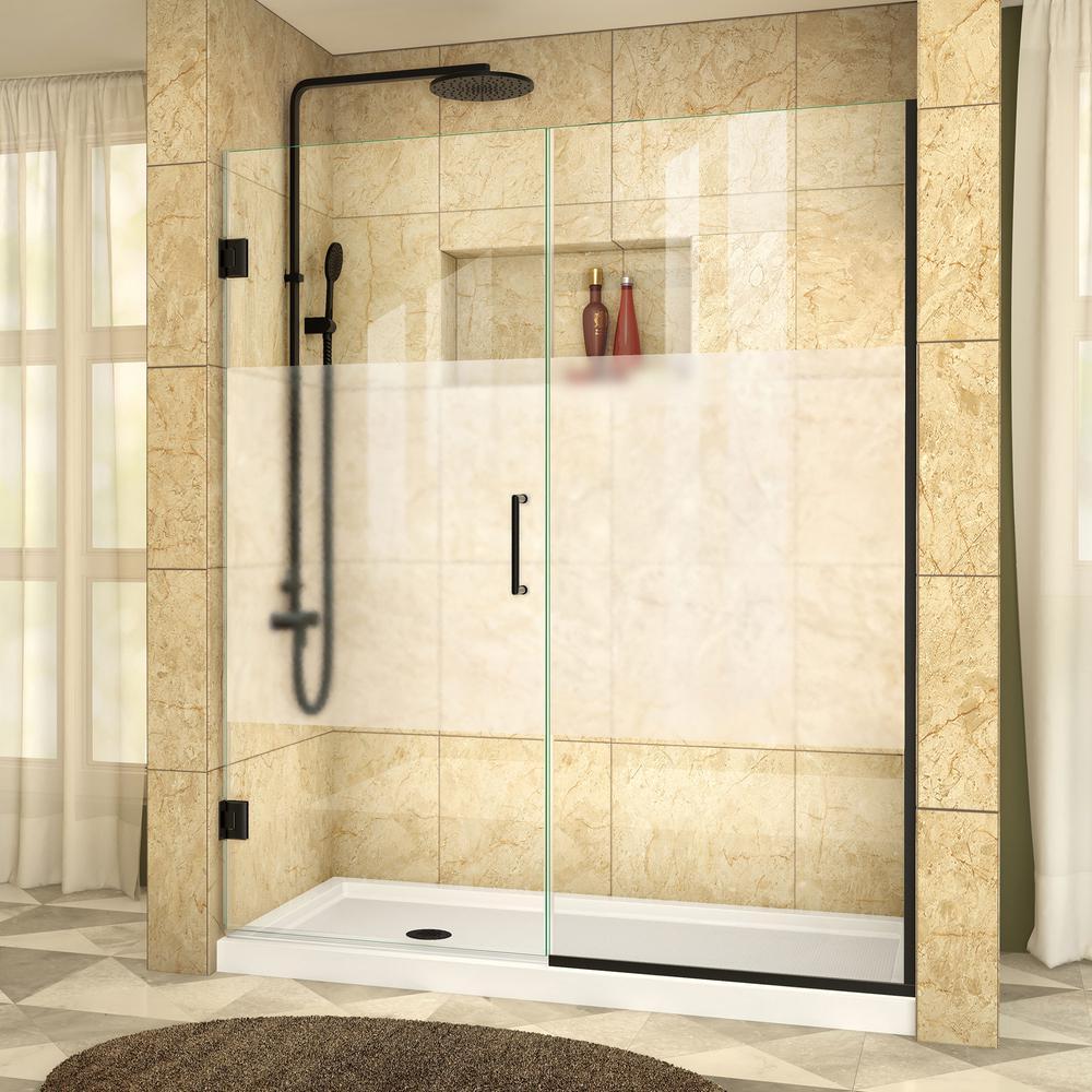 DreamLine Unidoor Plus 60 in. x 72 in. Frameless Hinged Shower Door ...