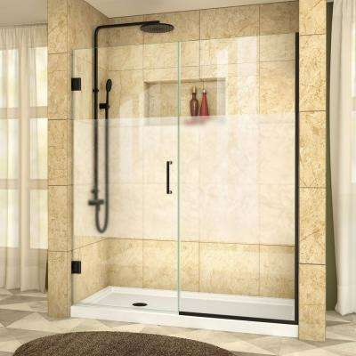 Frostedpatterned Square Frameless Shower Doors Showers