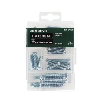 78-Piece Zinc-Plated Machine Screw Kit