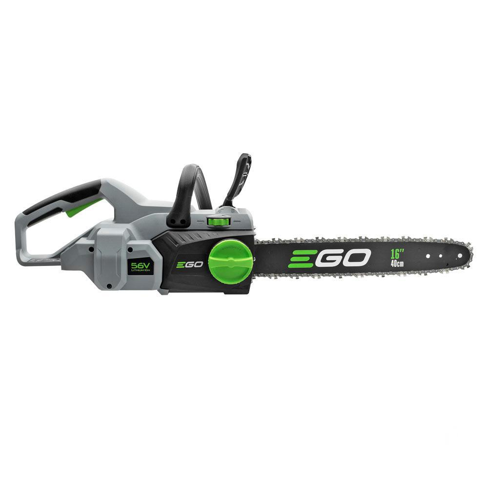 EGO 16 in. 56-Volt Lithium-Ion Cordless Chainsaw - Battery and Charger Not Included