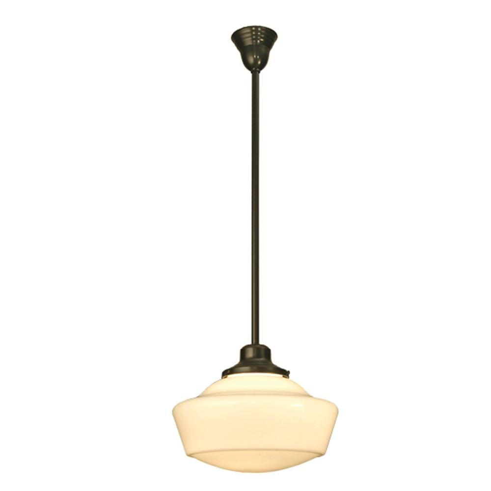 Illumine 1 Light Schoolhouse with Traditional Globe Pendant Craftsman Finish