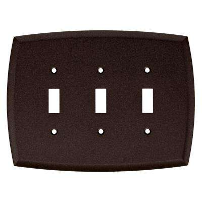 Amherst Decorative Triple Light Switch Cover, Cocoa Bronze