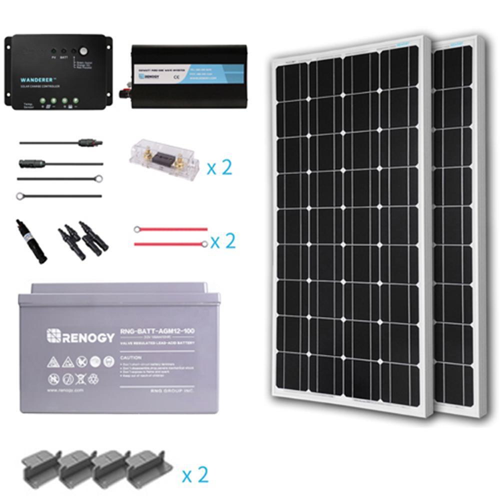 Renogy 200 Watt Starter Complete Solar Panel Kit Mono Off