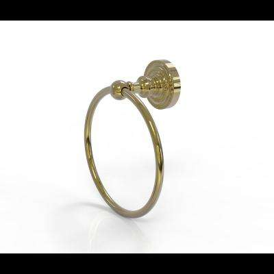 Dottingham Collection Towel Ring in Unlacquered Brass