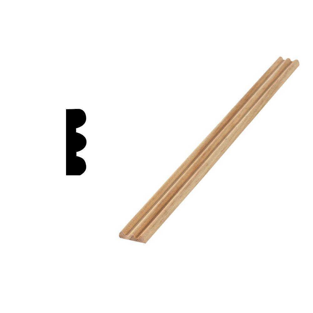 Woodgrain Millwork WG 144 1/4 in. x 3/4 in. x 96 in. Solid Pine Screen Moulding