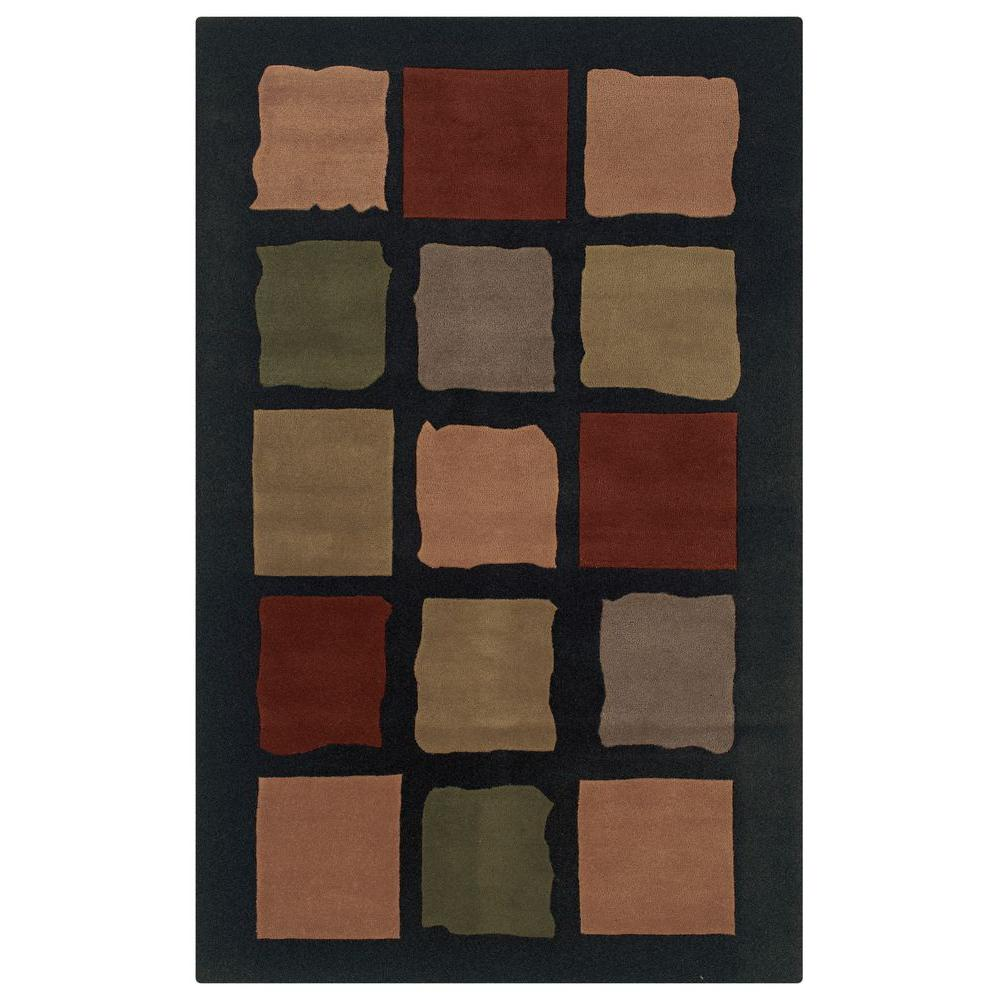 Rizzy Home Craft Harlem Black 2 ft. x 3 ft. Area Rug-DISCONTINUED