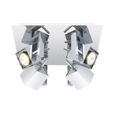 Manao 11 in. 4-Light Chrome Ceiling Track Lighting Head