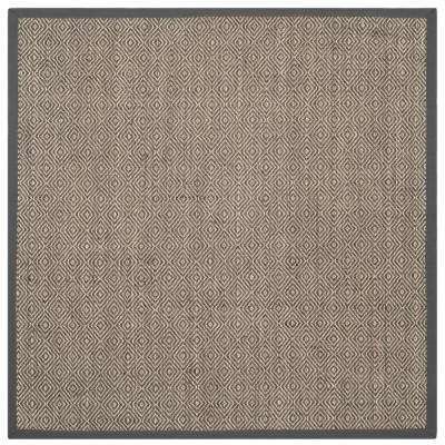 Border Gray Area Rugs The Home Depot
