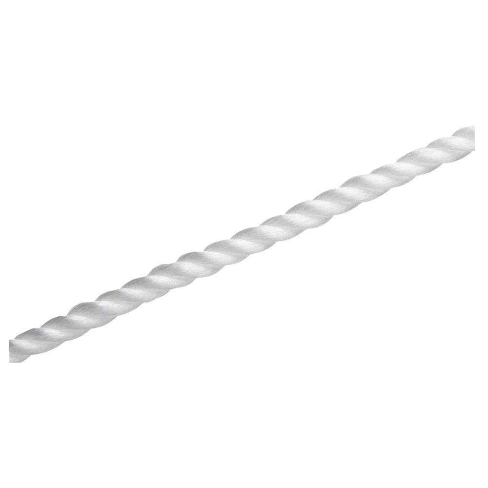 1/2 in. x 50 ft. Polypropylene Twist Rope, White
