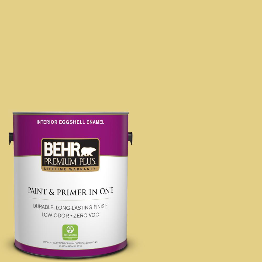 BEHR Premium Plus 1-gal. #P330-4 Starfruit Eggshell Enamel Interior Paint
