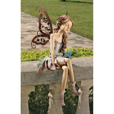 12.5 in. H Fannie the Fairy Sitting Statue