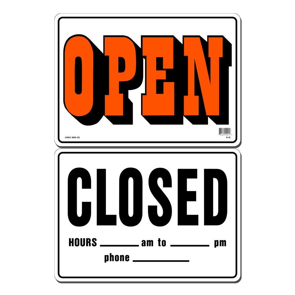 Lynch Sign 14 in. x 10 in. Open/Closed Sign Printed on Mo...