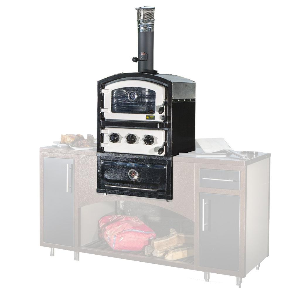 Fornetto Alto Series Built-In Wood Fired Oven Grill and Smoker in ...