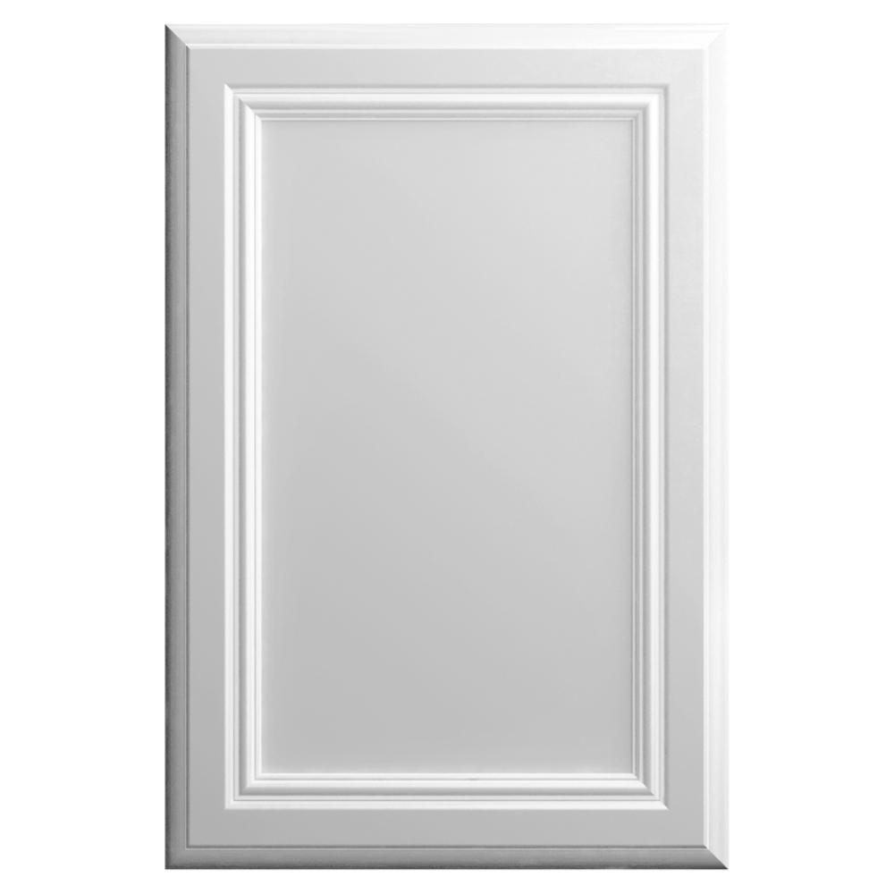 Hampton Bay 11x15 In Sprewell Cabinet Door Sample In Bright White Hbdssd Mbm 04 The Home Depot