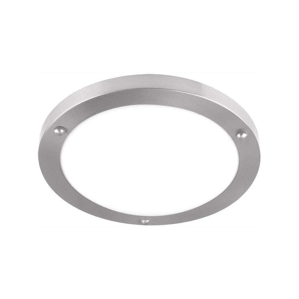 100-Watt Brushed Nickel Integrated LED Flush Mount