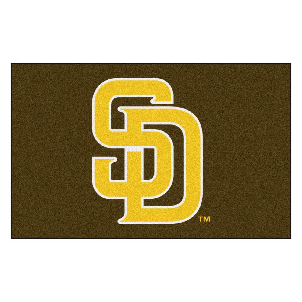MLB - San Diego Padres 5 ft. x 8 ft. Ulti-Mat Area Rug