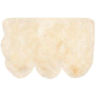 Sheep Skin White 3 ft. x 5 ft. Area Rug