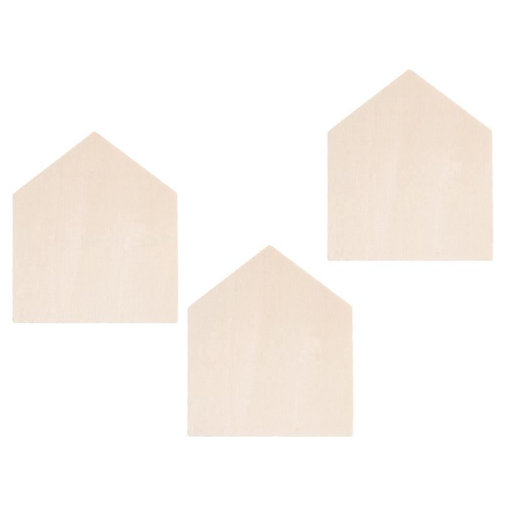 Darice House Shapes in Unfinished Wood