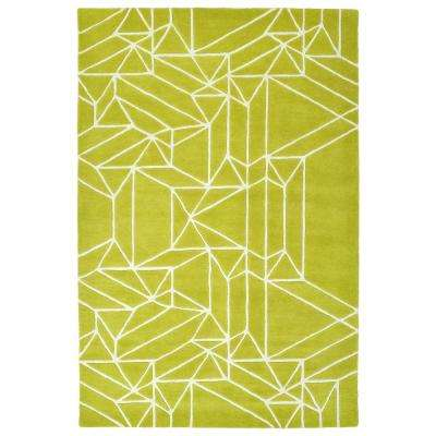 Origami Lime Green 4 Ft X 5 Area Rug