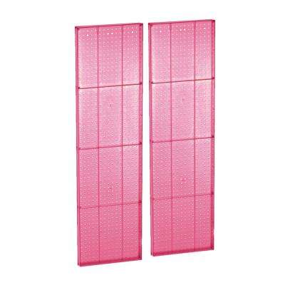60 in. H x 16 in. W Pink Styrene Pegboard with One Sided Panel (2-Pieces per Box)