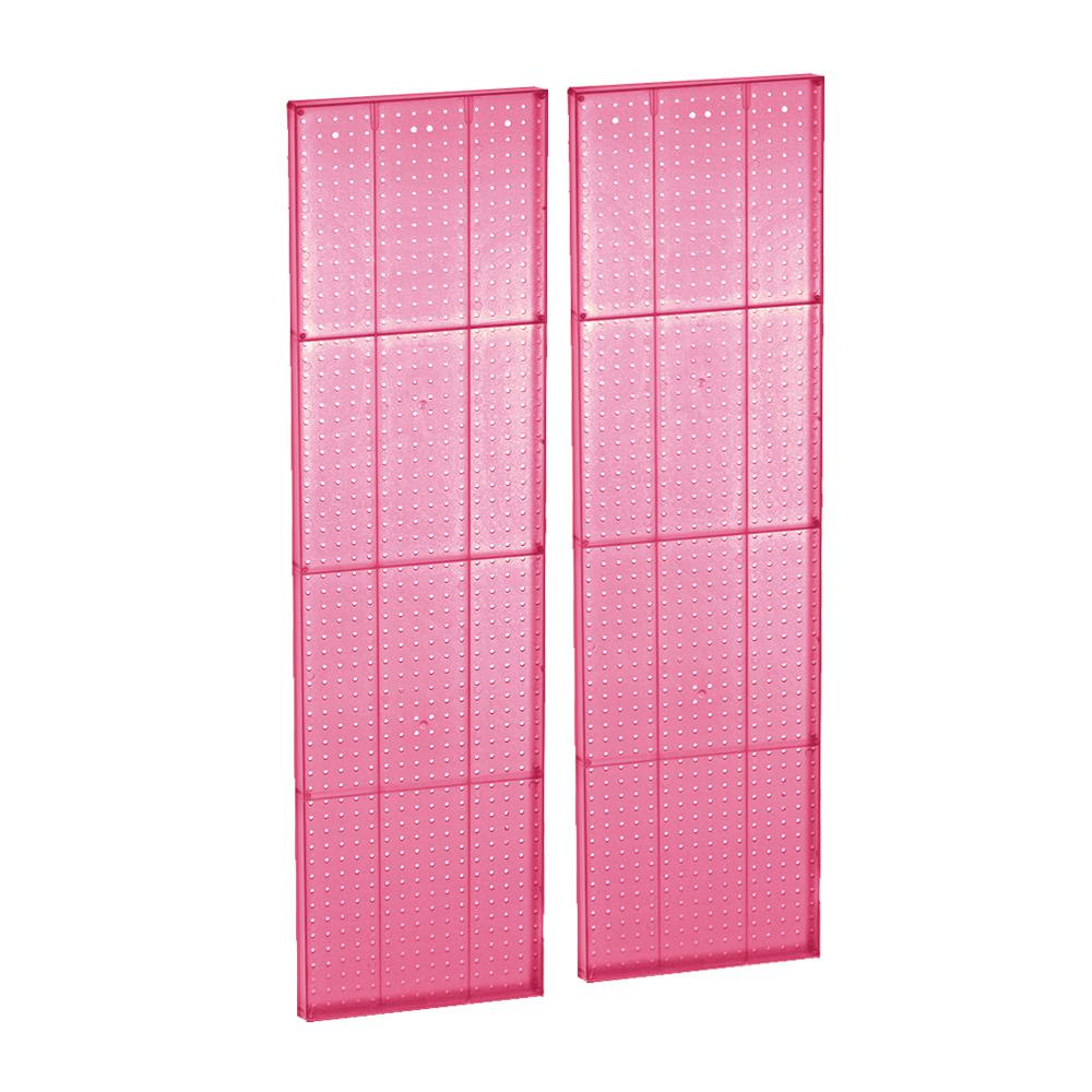 60 in. H x 16 in. W Pink Styrene Pegboard with