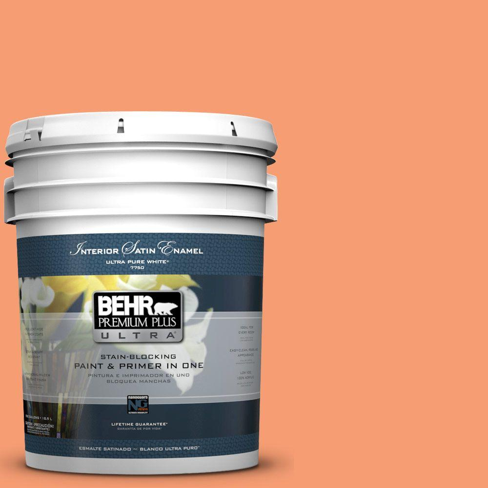 BEHR Premium Plus Ultra 5-gal. #P200-5 Burning Coals Satin Enamel Interior Paint
