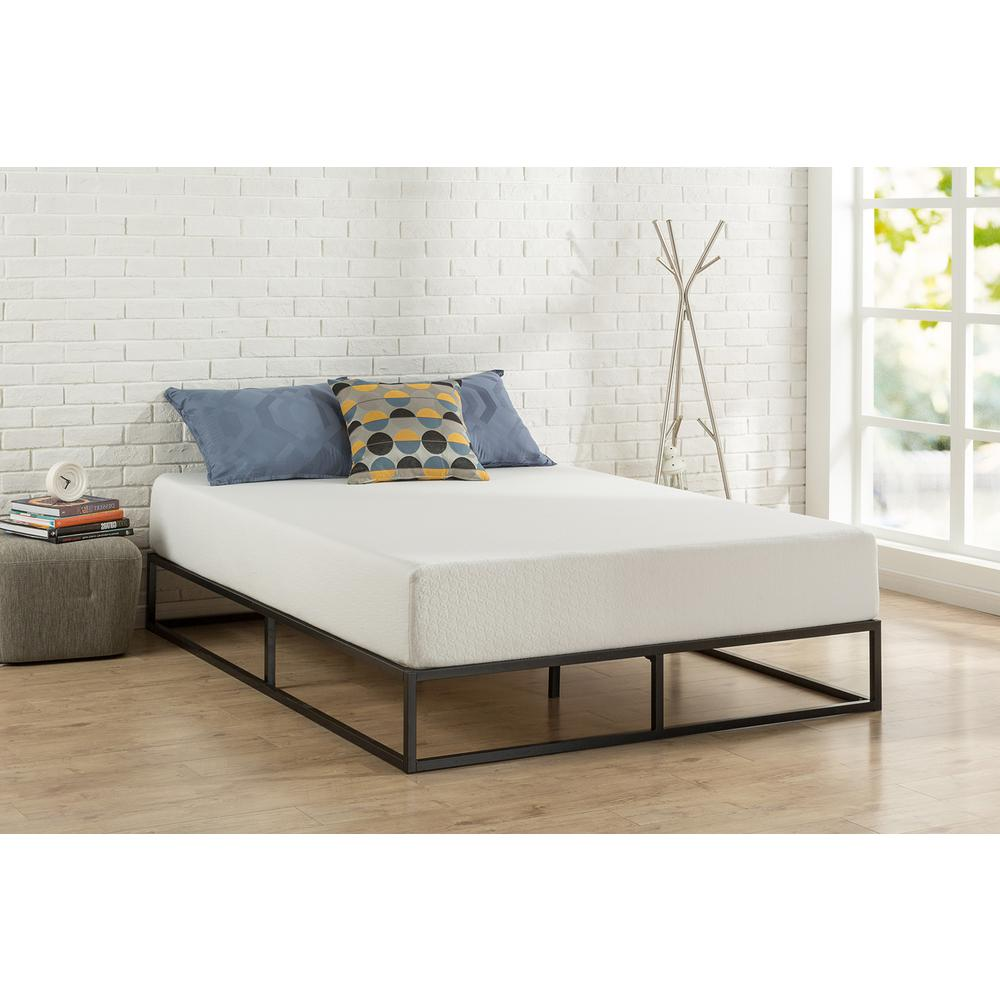 Full Bed Frame.Zinus Joseph Steel Platform Bed Frame Full Hd Mbbf 10f The Home Depot