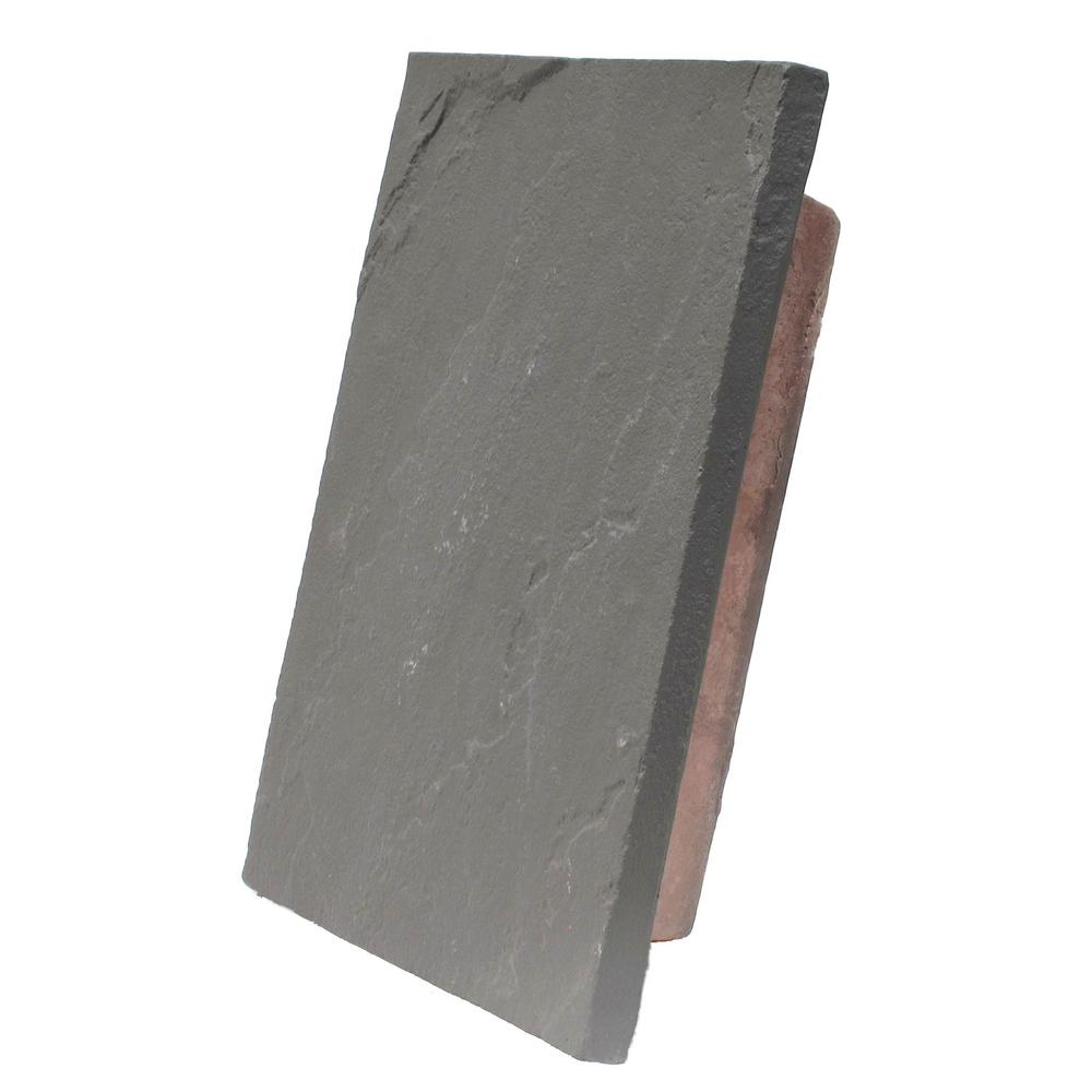 Sandstone Charcoal 10 in. x 13 in. Faux Polyurethane Large Universal