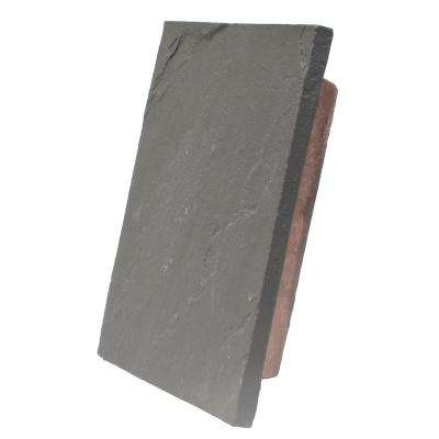Sandstone Charcoal 10 in. x 13 in. Faux Polyurethane Large Universal Mounting Block
