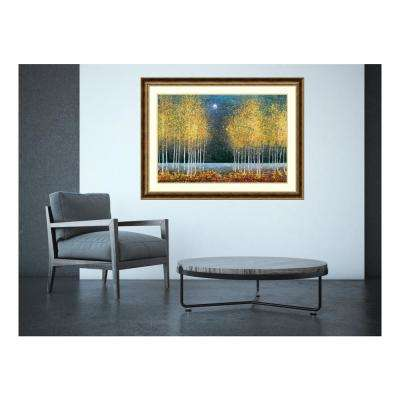 44 in. W x 33 in. H 'Blue Moon' by Melissa Graves-Brown Printed Framed Wall Art