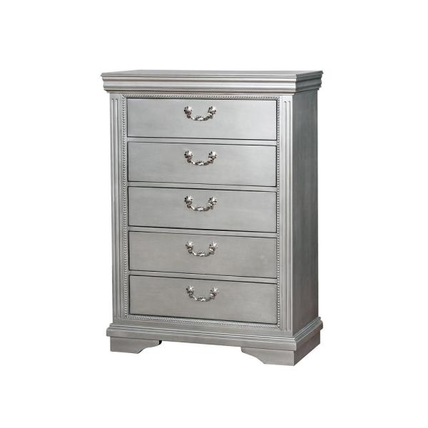 William's Home Furnishing Claudia Silver Traditional Style Chest CM7199C