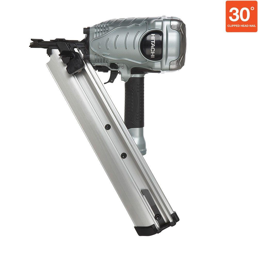 Hitachi 3-1/2 in. 30 Degree Paper Collated Clipped-Head Framing Nailer