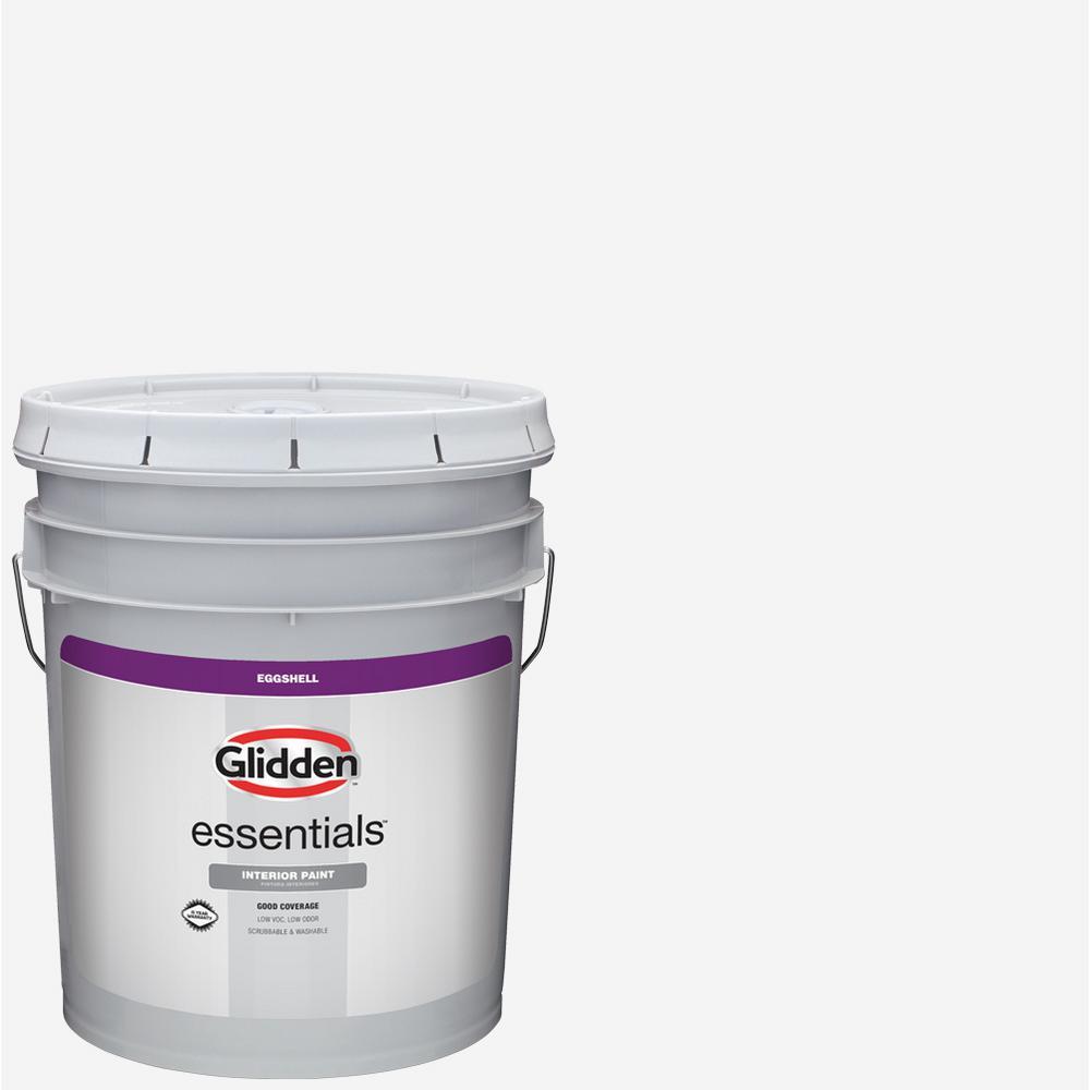 Glidden essentials 5 gal white eggshell interior paint - Eggshell or semi gloss ...