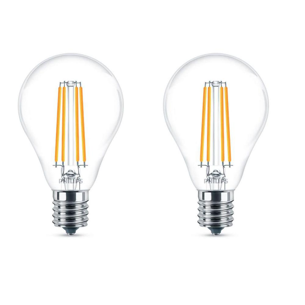 Light Bulb Home Depot: Philips 40W Equivalent Daylight A15 Dimmable LED Light
