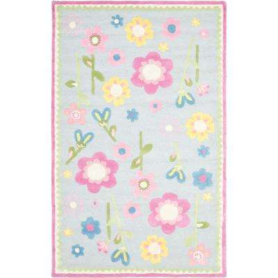 Playroom 8 X 10 Pink Kids Rugs Rugs The Home Depot