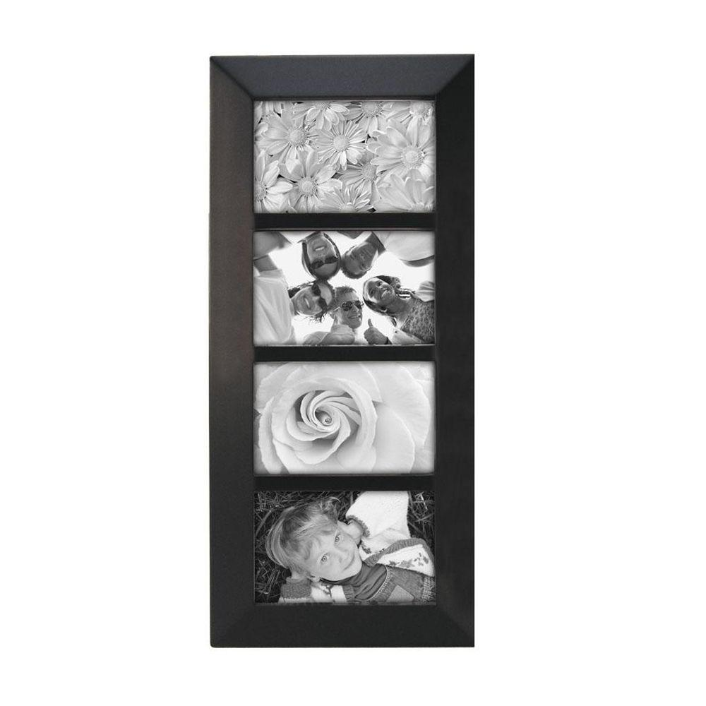 Home Decorators Collection Berkeley 4-Opening 4 in. x 6 in. Black Collage Picture Frame