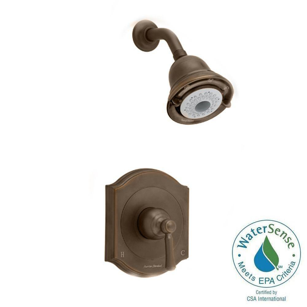 Portsmouth 1-Handle Shower Faucet Trim Kit with Square Escutcheon in Oil