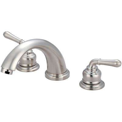 Accent 2-Handle Deck Mounted Roman Tub Faucet in Brushed Nickel