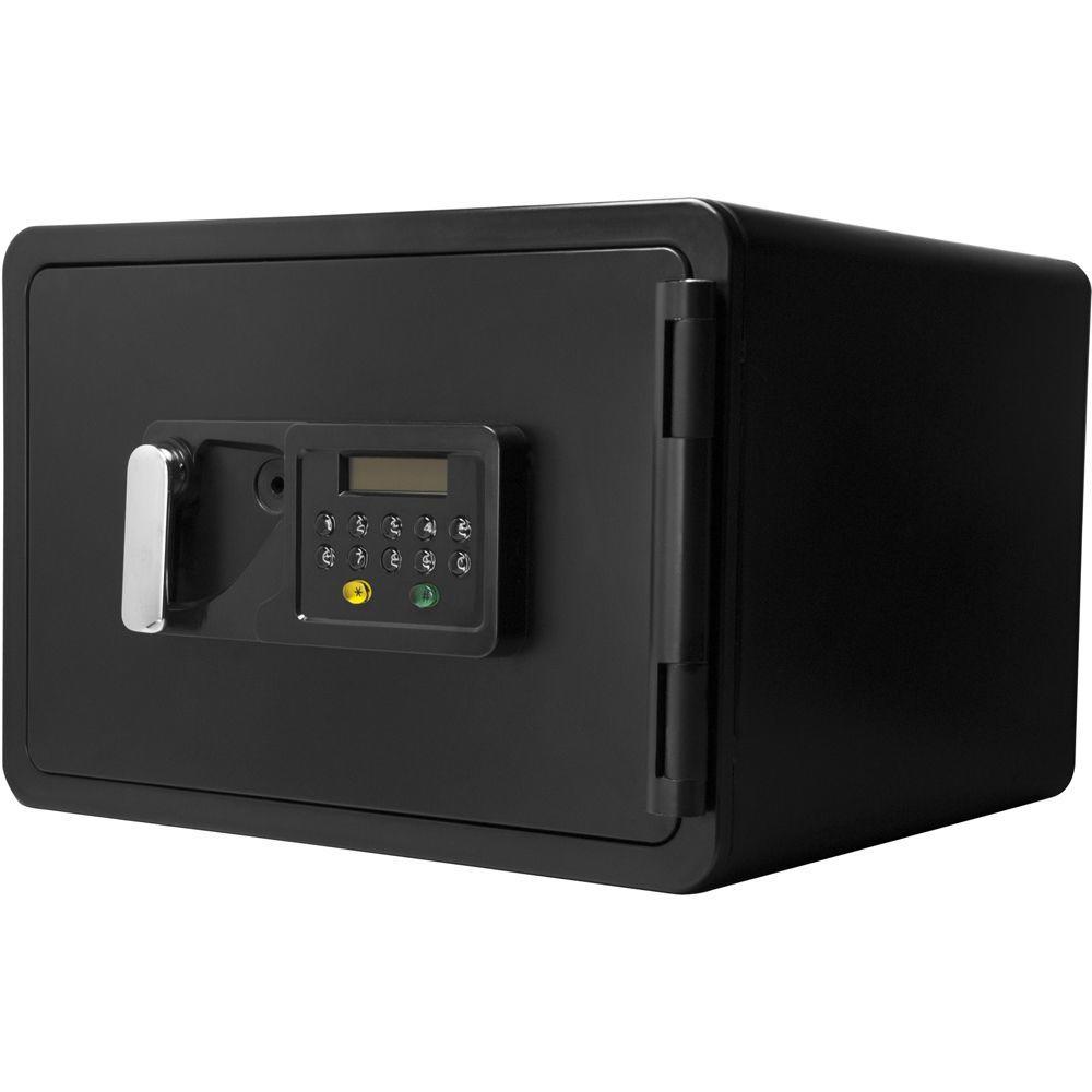 0.54 cu. ft. Steel Fire-Resistant Digital Keypad Safe Lock, Black