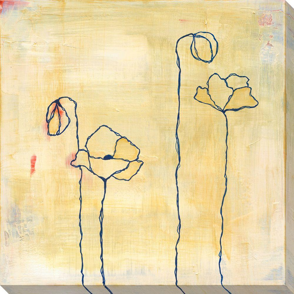 NEP Art 40 in. x 40 in. Spring Silhouettes II Oversized Canvas Gallery Wrap